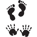 Sarasota Stamps Mounted Rubber Stamp Baby Hands & Feet Duo: Rubber, Mounted, (model SSA-3291), price per each