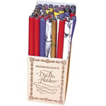Manuscript Wooden Pen Holder Display; Type: Calligraphy; (model WPH48D), price per each