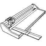 """Rotatrim® Extended Aluminum Rule 24"""": Replacement Part, Trimmer, (model TX24), price per each"""