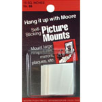 Moore Picture Mount; Color: White/Ivory; (model M66), price per pack