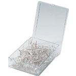Alvin Push Pins: Clear, Box of 100