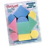 MagicStamp™ Moldable Foam Stamp Geometrics; Material: Foam; Mounted: No; Type: Stamp; (model CS10000), price per set