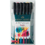 Faber-Castell Pitt Artist Brush Pen: Basic, Set of 6