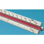 "Fairgate® T Series 6"" Solid Aluminum Engineer Triangular Scale: White/Ivory, Aluminum, 6"", Engineer, (model TE6), price per each"