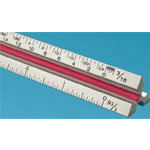 """Fairgate® T Series 18"""" Solid Aluminum Engineer Triangular Scale; Color: White/Ivory; Material: Aluminum; Size: 18""""; Type: Engineer; (model TE18), price per each"""