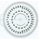 "True Angle® Attachable Dial: White/Ivory, Plastic, 4"", General Purpose, (model Q104), price per each"