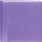 "Pioneer®  Snap Load® 12"" x 12"" Scrapbook Purple: Purple, Fabric, 10 Page Protectors, 12"" x 12"", (model DSL12-PR), price per each"