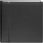"Pioneer®  Snap Load® 12 x 12 Scrapbook Black: Black/Gray, Fabric, 10 Page Protectors, 12"" x 12"", (model DSL12-BK), price per each"