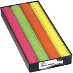 "Alvin® 12"" Fluorescent Plastic Rulers Display Assortment; Material: Plastic; Size: 12""; Type: Ruler; (model RT12D), price per each"