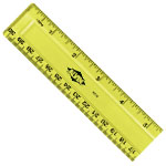 "Alvin® 12"" x 1 1/4"" Plastic Ruler: Plastic, 12"", General Purpose, (model RT12), price per each"