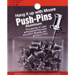 "Moore 5/8"" Push-Pins 20-Pack; Size: 5/8""; (model M5-20), price per pack"