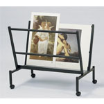 "Heritage Arts™ Large 38"" Wide Poster & Print Rack: 100 Prints, Black/Gray, Steel, 32""d x 25""w x 38""h, Display, (model PHR100-BK), price per each"