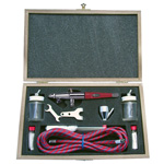 Paasche Model VLST-3W Airbrush Set with Deluxe Wood Carrying Case