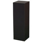 "Xylem Black Laminate Pedestal: 18"" x 18"" Base, 18"" Height"