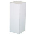 "Xylem White Laminate Pedestal: 18"" x 18"" Base, 18"" Height"