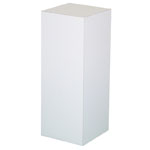 "Xylem White Laminate Pedestal: 18"" x 18"" Base, 42"" Height"
