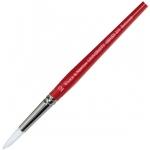 Winsor & Newton™ University Series 233 Round Short Handle Brush #7: Short Handle, Nylon, Round, Acrylic, Oil, Watercolor, (model WN5423007), price per each
