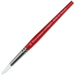 Winsor & Newton™ University Series 233 Round Short Handle Brush #32: Short Handle, Nylon, Round, Acrylic, Oil, Watercolor, (model WN5423032), price per each