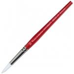 Winsor & Newton™ University Series 235 Round Long Handle Brush #3: Long Handle, Nylon, Round, Acrylic, Oil, Watercolor, (model WN5419003), price per each