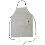 Heritage Arts™ Extra Large Adult Natural Canvas Artist Apron: White/Ivory, Canvas, Adult, (model CAP2536), price per each
