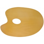 "Heritage Arts™ Oval Beechwood Palette 11"" x 7-3/4""; Material: Beechwood; Shape: Oval; Size: 7 3/4"" x 11 3/4""; (model CW180-2), price per each"