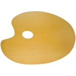 "Heritage Arts™ Oval Beechwood Palette 13"" x 9-3/4""; Material: Beechwood; Shape: Oval; Size: 9 3/4"" x 13 3/4""; (model CW180-3), price per each"