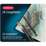 Derwent Graphitint Pencil 24-Color Set: Multi, Watercolor, (model 0700803), price per set