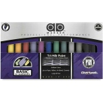 Chartpak® AD™ Marker 12-Color Basic Set: Multi, Xylene-Based, Medium Nib, (model AD12), price per set