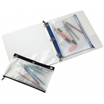 "Alvin® 3-Ring Binder Mesh Bag 8"" x 11""; Color: Assorted; Material: Vinyl; Size: 8"" x 11""; Type: Mesh Bag; (model NBR811), price per each"