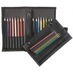 "Heritage Arts™ Easy Pack & Go Traveler™ Pencil and Brush Holder; Capacity: 16 Pencils; Color: Black/Gray; Material: Nylon; Size: 3 1/2"" x 8 1/2""; Type: Case; (model PB12), price per each"