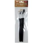 Heritage Arts™ 5-Piece Short Handle Watercolor Brush Value Set; Length: Short Handle; Type: Watercolor; (model ABP101), price per set