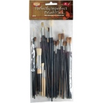 Heritage Arts™ 42-Piece Perfectly Imperfect Brush Value Set; Length: Multi; Material: Natural Bristle, Synthetic Bristle; Shape: Multi; Size: Multi; Type: Multi; (model ABP102), price per set