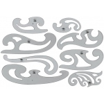 Alvin® French Curve Set of 8; Color: Clear; Material: Polystyrene; Type: Curve; (model FC88), price per set