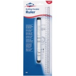 "Alvin® 12"" Rolling Parallel Ruler: Plastic, 6"", Straightedge, (model 312), price per each"