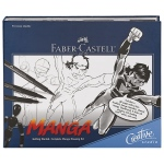 Faber-Castell® Creative Studio Getting Started Complete Manga Drawing Kit; Color: Black/Gray; Tip Type: Brush Nib, Fine Nib; (model FC800095), price per kit