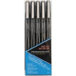 Prismacolor® Premier Black Fine Line Marker 5-Pack; Color: Black/Gray; Tip Size: .005mm, .01mm, .03mm, .05mm, .08mm; Tip Type: Fine Nib; (model SN14171), price per set