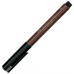 Faber-Castell® PITT® Artist Pen Sepia Brush; Color: Brown; Ink Type: India, Pigment; Tip Type: Brush Nib; (model FC167475), price per each