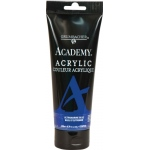 Grumbacher® Academy® Acrylic Paint 200ml Ultramarine Blue; Color: Blue; Format: Tube; Size: 200 ml; Type: Acrylic; (model GBC219P200), price per tube