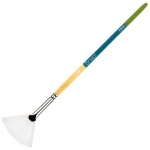Princeton Snap! White Taklon Short Handle Watercolor and Acrylic Brush: Fan 4