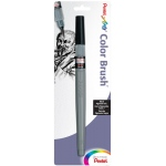 Pentel® Medium Point Pigment Pen; Color: Black/Gray; Ink Type: Pigment; Tip Type: Brush Nib; (model FP5MBPA), price per each
