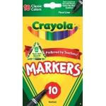 Crayola® Classic Marker Fine Line 10-Color Set: Multi, (model 58-7726), price per set