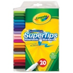 Crayola® Super Tips Washable Marker 20-Color Set; Color: Multi; Type: Washable; (model 58-8106), price per set
