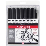 Pigma® Sensei™ 8-Pack Pen Set: Black/Gray, Technical, (model 50204), price per set