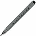 Zig®  Memory System® Millennium™ Pen .08 Black; Color: Black/Gray; Ink Type: Pigment; Tip Size: .08mm; Tip Type: Fine Nib; (model MS08/10), price per each