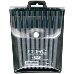Copic Disposable Multiliner Pen: Set B2, 9-Piece (1 each Black with Brush)