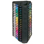 "Heritage Arts™ Vertical Marker Case Holds 60; Capacity: 60 Markers; Color: Black/Gray; Material: Nylon; Size: 9"" x 18""; Type: Case; (model MCV60), price per each"