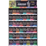 Pigma® Micron® Fine Line Design Pen 576-Piece Mega Display; Color: Multi; Ink Type: Water-Based; Type: Technical; (model S30075D), price per each