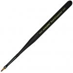 Royal & Langnickel® Mini Majestic Taklon Watercolor and Acrylic Brush Filbert 10/0; Grade: Best; Length: Mini Handle; Material: Taklon; Shape: Filbert; Type: Acrylic, Watercolor; (model R4200T-10/0), price per each