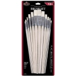 Royal & Langnickel® White Bristle Flat Brush Set: Multi, White Bristle, Flat, Multi, Multi, (model RSET-9601), price per set