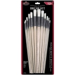 Royal & Langnickel® White Bristle Round Brush Set; Length: Multi; Material: White Bristle; Shape: Multi, Round; Type: Multi; (model RSET-9602), price per set